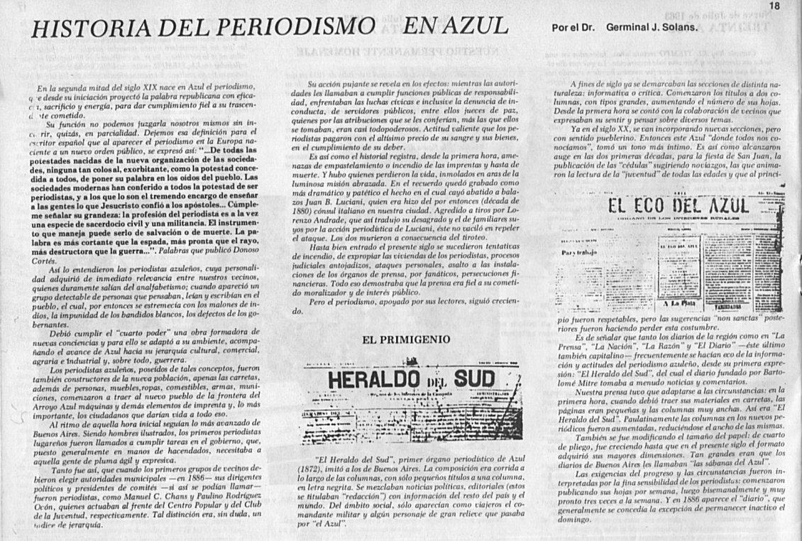 Historia del Periodismo Azuleño 1